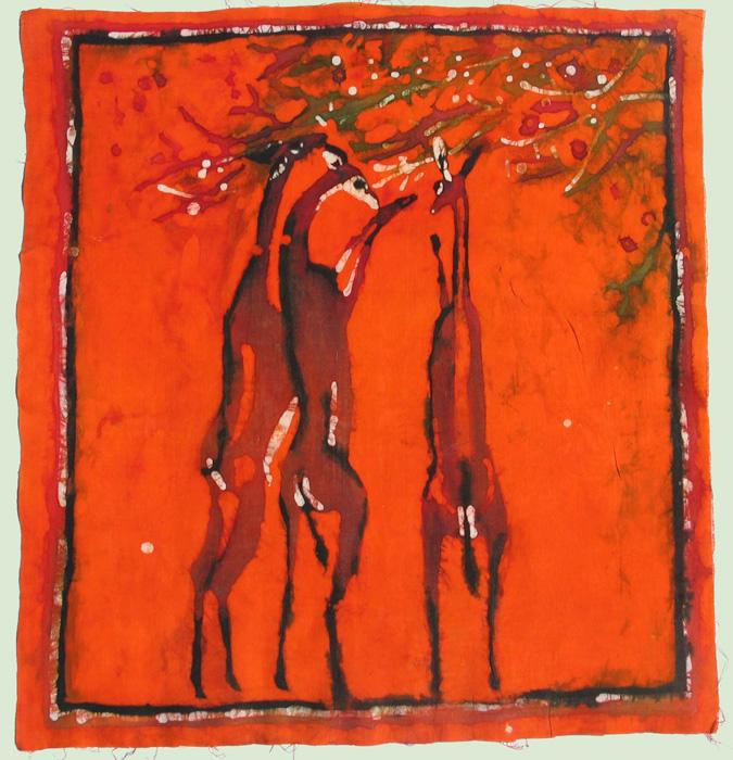 90. Batik, 60x55 cm, Archiv