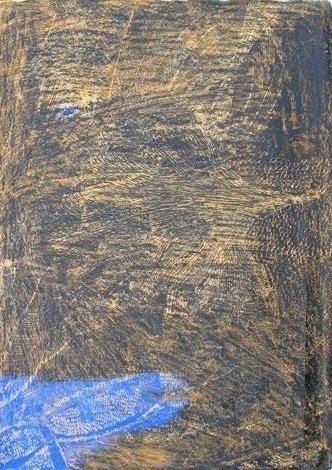 127. Ammonites, drawing, own technique, 100x70 cm