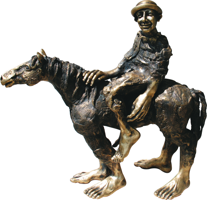 65. Stupid Luck, Horses and Dragnoflies series, brass, 50 cm height, archive